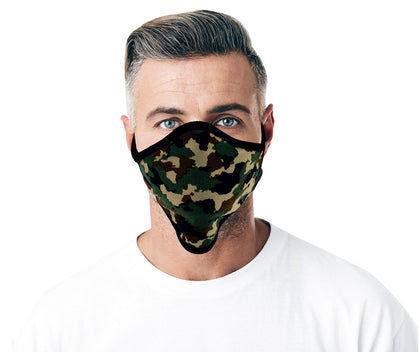 Xelement XS8006 'Camouflage Print' USA Made 100 % Cotton Protective Face Mask