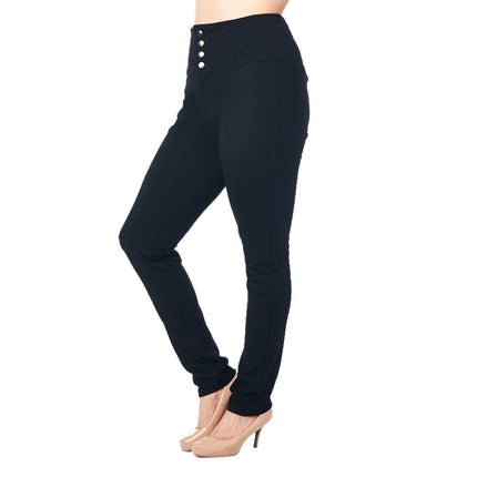 LA Society Active Wear Women's Black Skinny Fit Leggings