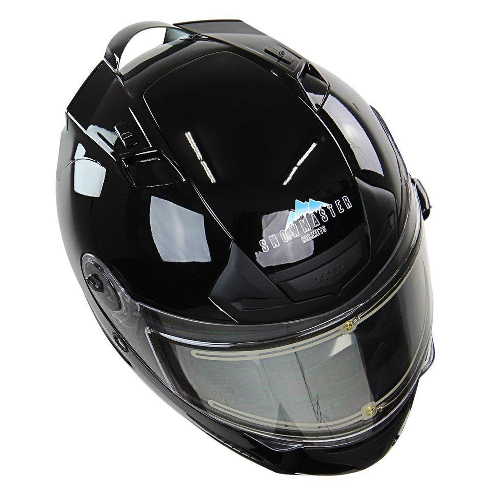 Snow Master TS-44 Black Full Face Snowmobile Helmet