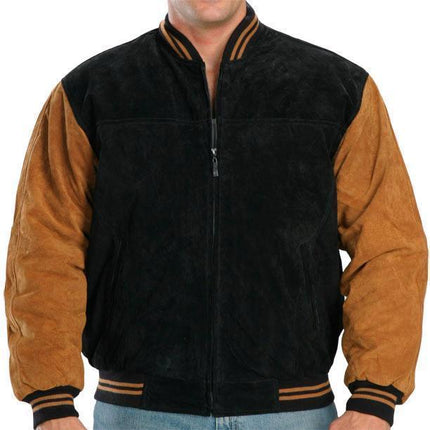 Classic Two Tone Baseball Bomber Jacket