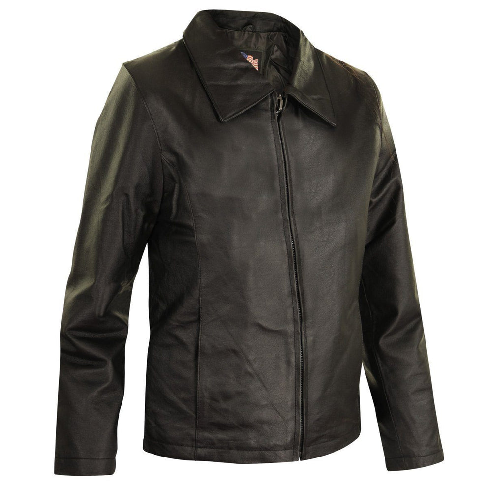 USA 1251-Black Women's Black Leather Fashion Jacket