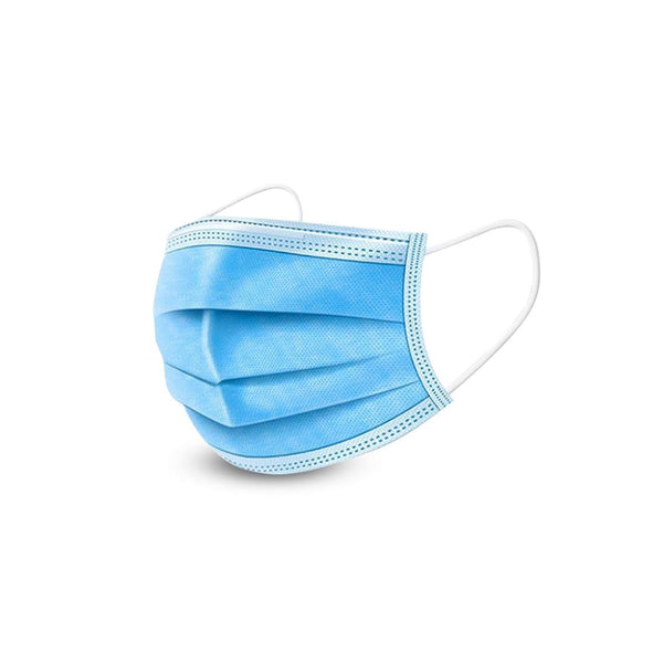 Disposable 3-Layer Masks, Anti Dust Breathable Earloop Mouth, Comfortable Blue Face Mask (pack of 50)