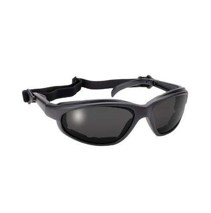 Polycarbonate Smoke Sunglasses with Inner Padding and Detachable Strap