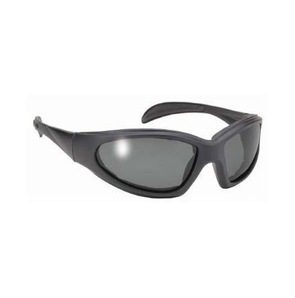 Pacific Coast Chopper Black Sunglasses With Polarized Grey Lens and UV 400 Protection with Padded Frame