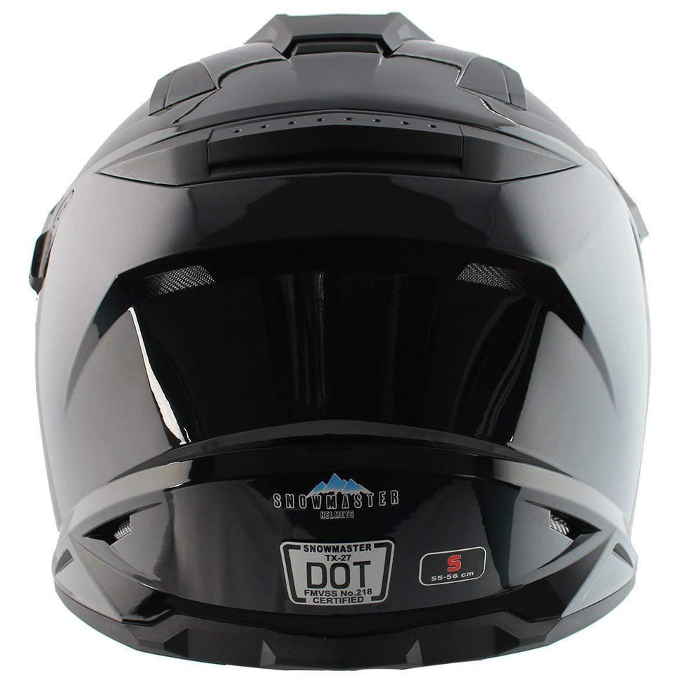 Snow Master TX-27 Gloss Black DS Snowmobile Helmet