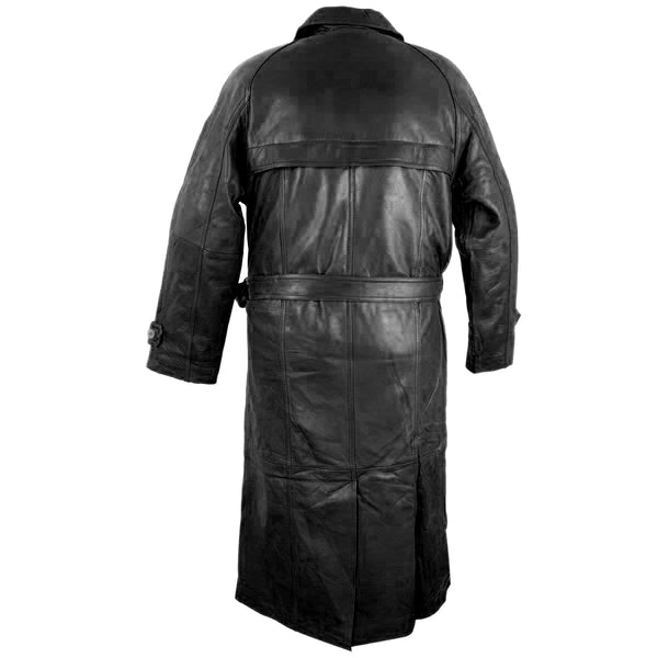 Lucky Leather Mens 326 Soft Touch Cowskin Black Leather Trench Long Coat