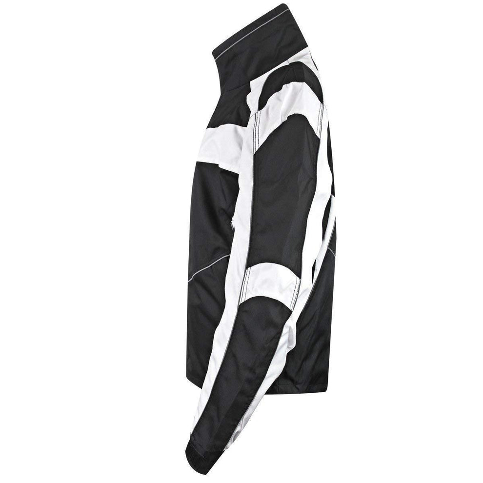 Snow Master Men's Stormer Insul Tex Black/White Cold Weather Motorcycle/Snowmobile Jacket