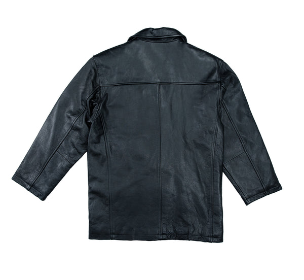 Lucky Leather 800 Black Mens Double Breasted