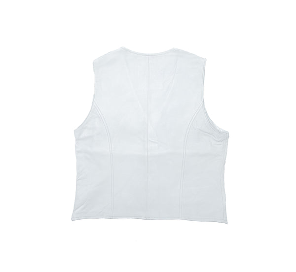 Classic B320 White Ladies Leather Vest