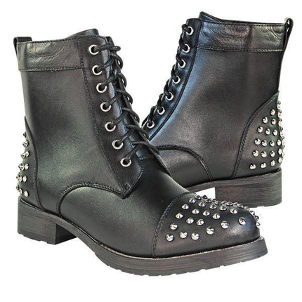 Xelement LU8027 Women's Studded Leather Boots