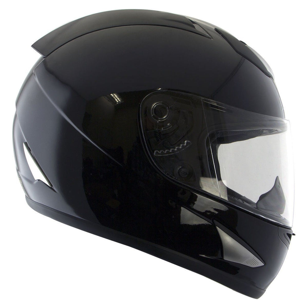 Nikko N917 Matte Black Full Face Motorcycle Helmet