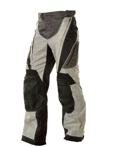 Xelement B4403 Men's Black and Silver Tri-Tex Fabric Motorcycle Pants with X-Armor Protection