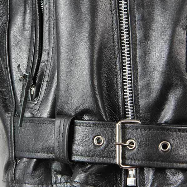 Xelement B7101 /'Classic Armored/' Men/'s Black High-Grade Leather Motorcycle Biker Jacket with X-Armor Protection