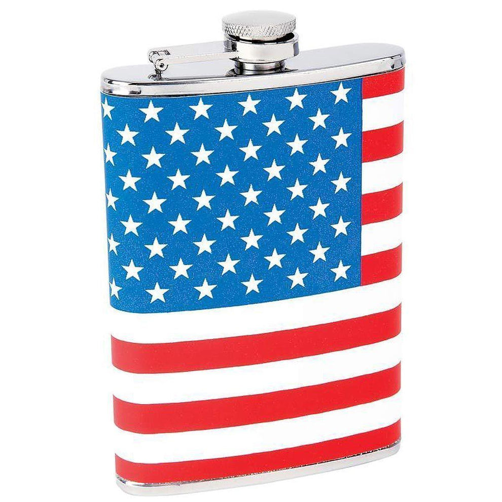 Maxam 8oz Stainless Steel Flask with American Flag Wrap
