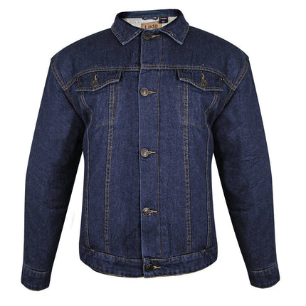 Lada Traditional Mens Western Dark Blue Denim Jacket