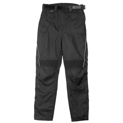 Xelement CF2131 Men's 'Road Racer' Black Tri-Tex Motorcycle Racing Pants with X-Armor Protection