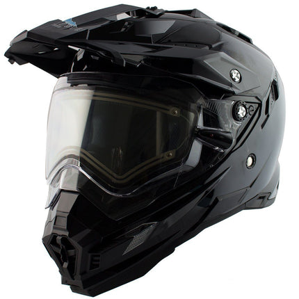 Snow Master TX-27 Matte Black DS Snowmobile Helmet