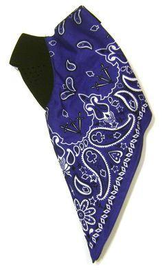 Zan Headgear Neodanna Blue Paisley Cotton/Neoprene Face Mask