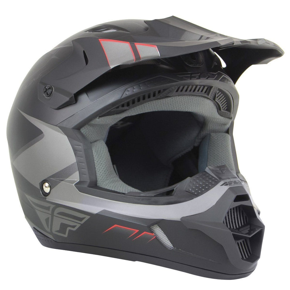 Fly Racing Kinetic Impulse Matte Grey/Black Helmet