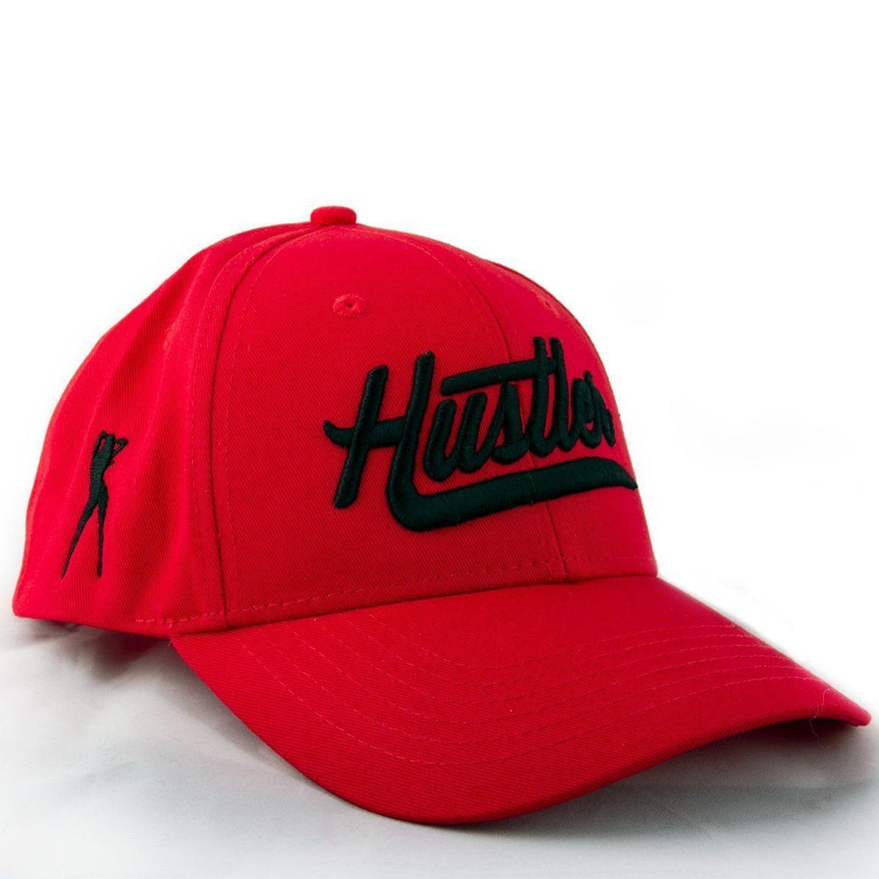 Officially Licensed Hustler Classic Baseball Red Twill Cap with Black 3D Puff Hustler Embroidered Logo