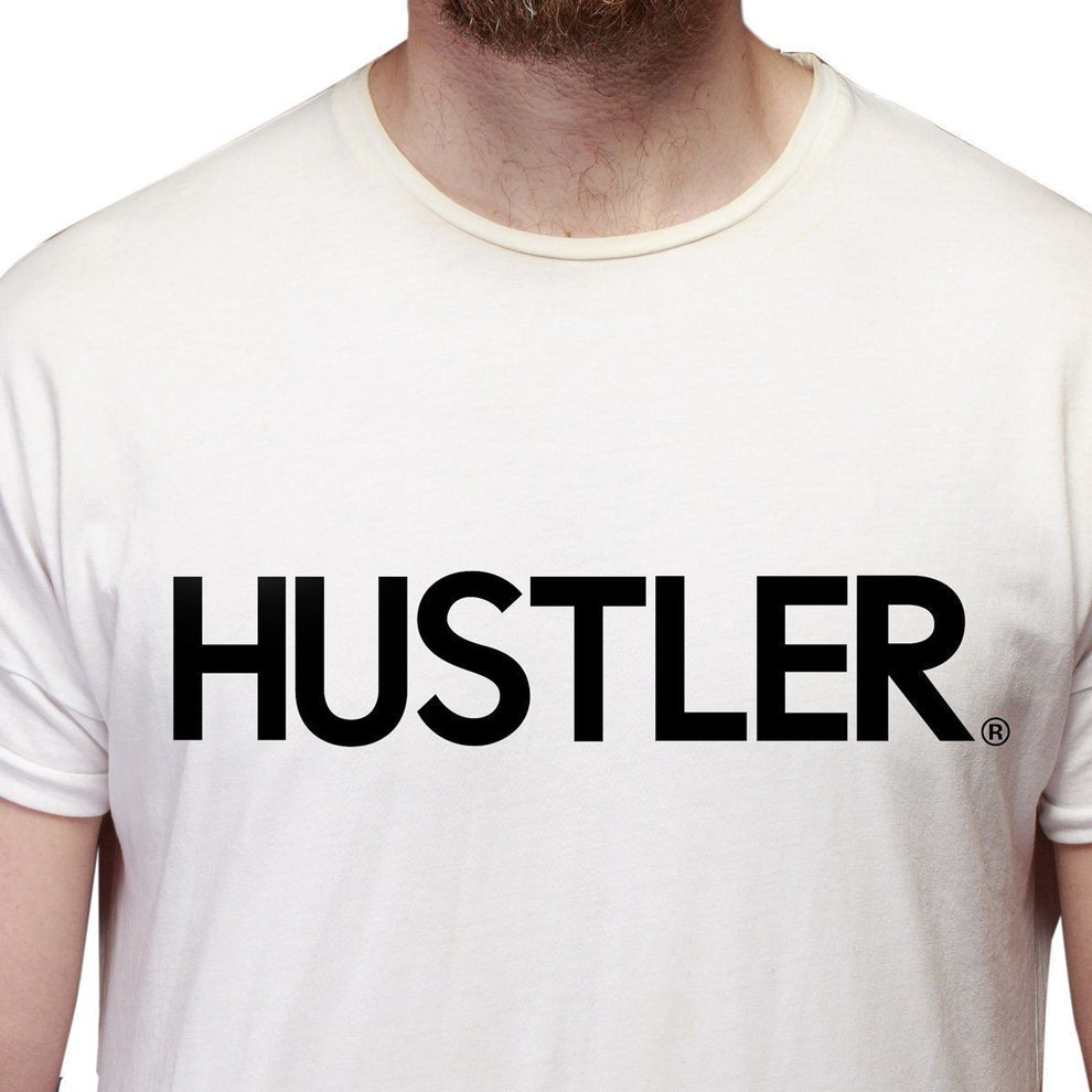 Men's Officially Licensed Hustler HST-600 'Hustler Logo' White T-Shirt