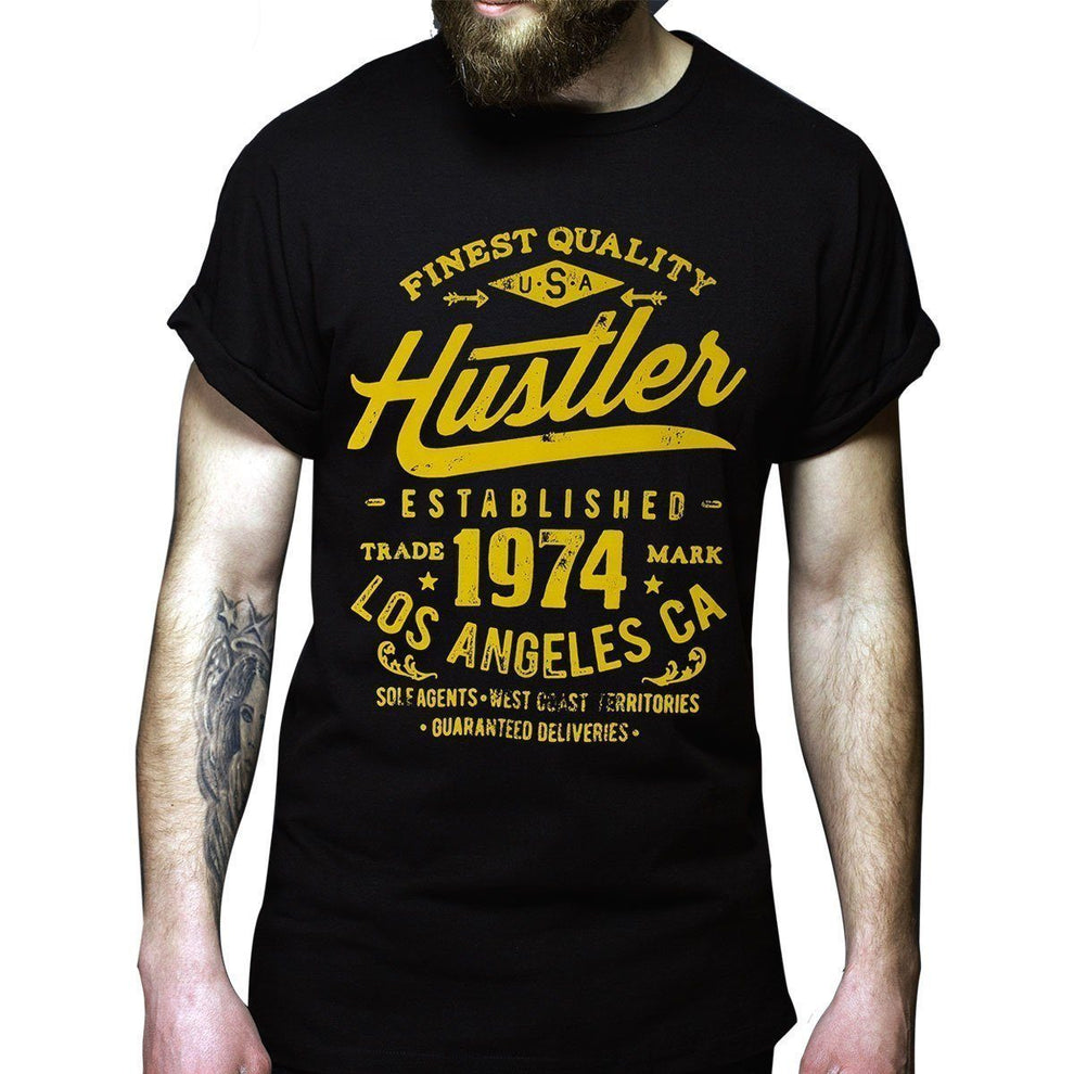 Men's Officially Licensed Hustler HST-630 'Finest Quality Established 1974' Black T-Shirt