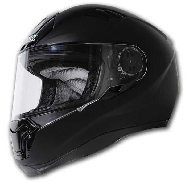 Nitek Interceptor Flat Black Full Face Motorcycle Street Helmet