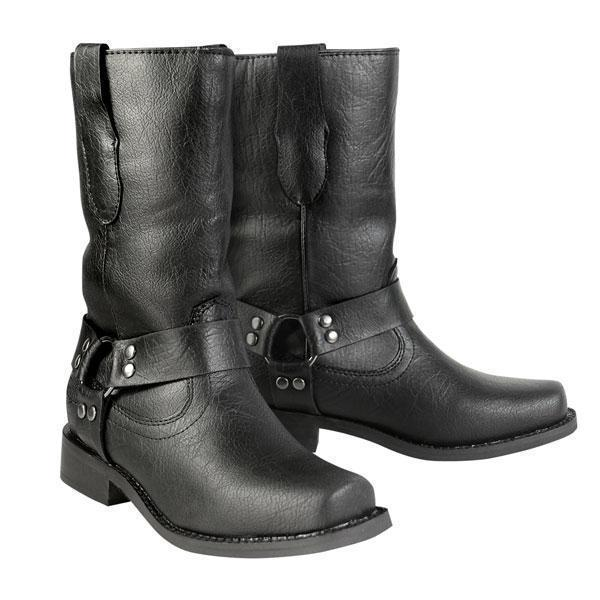 Xelement LU7028 Black Children's Harness Leather Boots