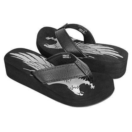 Xelement LU8592 Women's Black Eagle Sandals