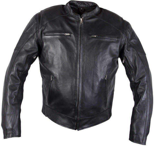 Xelement XS-3349 Evade Mens Black Leather Motorcycle Jacket