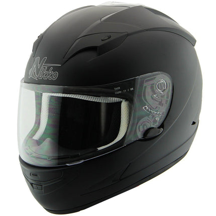 Nikko N916 Matte Black Full Face Helmet