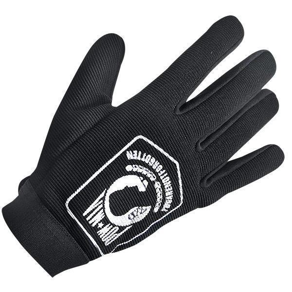 Xelement XG1484 'POW/MIA' Mens Black Textile Motorcycle Wrist Gloves