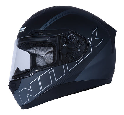 Nitek P1 Flat Black Stealth Full Face Motorcycle Street Helmet