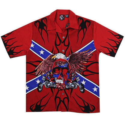 Dragonfly Roadhouse Rebel Chopper Button up Short Sleeve Shirt