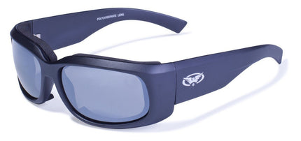 Global Vision Eyewear Prospect Glasses with Matte Black Frames and Flash Mirror Lenses