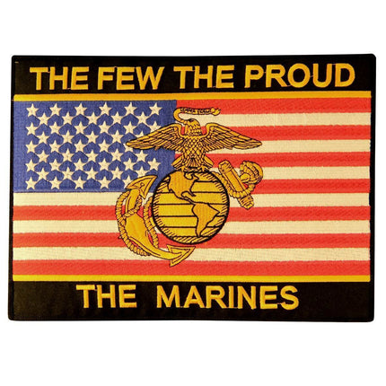 Officially Licensed 'The Few The Proud The Marines' Large Military 10 Inch Patch