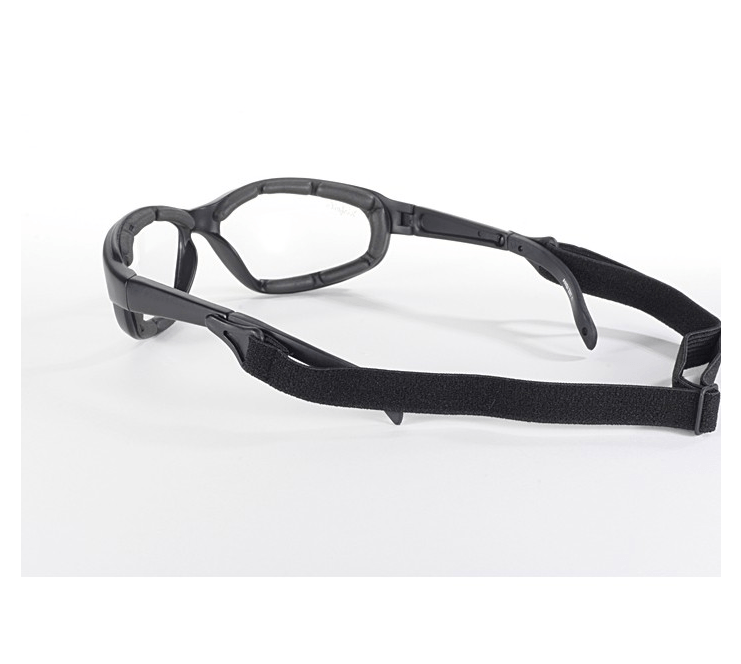 Polycarbonate Clear Sunglasses with Inner Padding and Detachable Strap