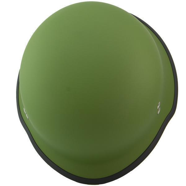 Outlaw T-99 Military German Style Flat Green Half Helmet with Outlaw 50 Nemes and Audio Speaker Earpads