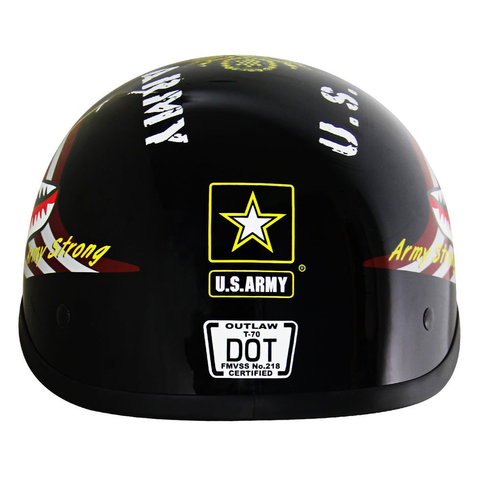 Outlaw T70 'Army' Officially Licensed Motorcycle Half Helmet