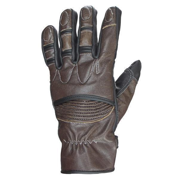 Xelement UK2678 'Vagabond' Men's Brown and Black Leather Gloves