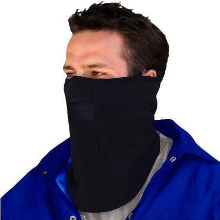 Zan Headgear Micro Fleece with Mesh Mouth Black Face Mask