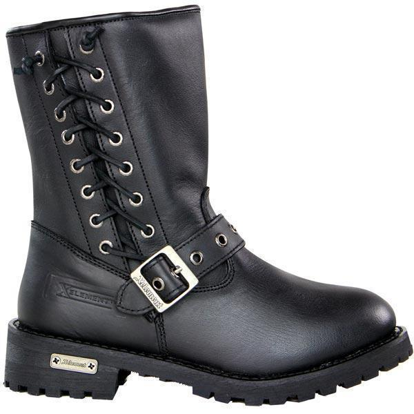 Xelement X93010 BLACK 'Dahlia' Women's Black Performance Leather Boots