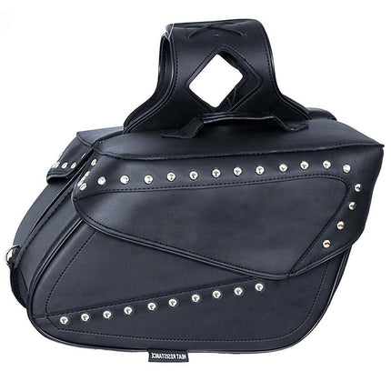 Xelement BXU9510 Black PVC Zip-Off Saddlebags