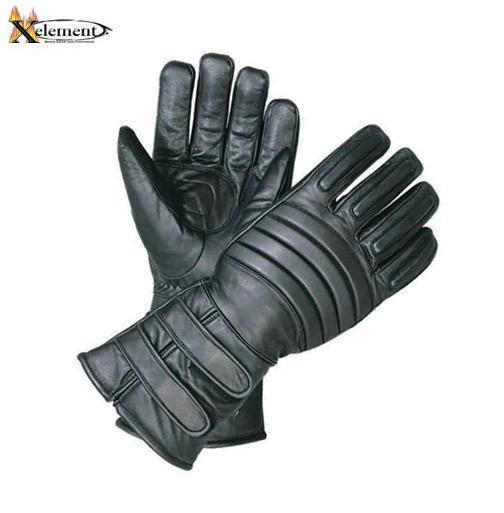 Xelement XG1222 Mens Leather Padded Insulated Motorcycle Gloves