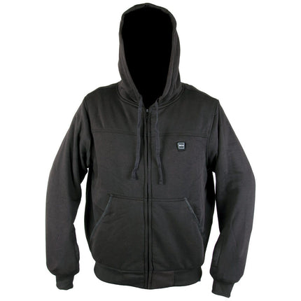 Xelement XS-594 Men's Zipper Front Black Heated Fleece Hoodie