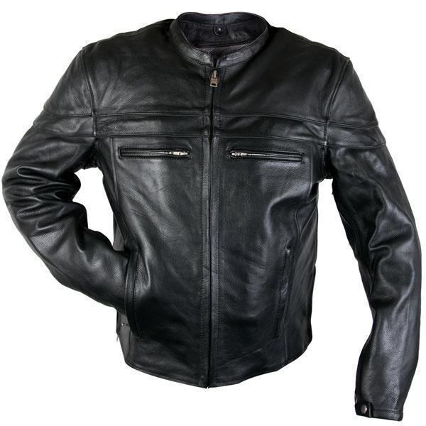 Xelement XS-6225 'Speedster' Men's Black Armored Leather Racing Jacket