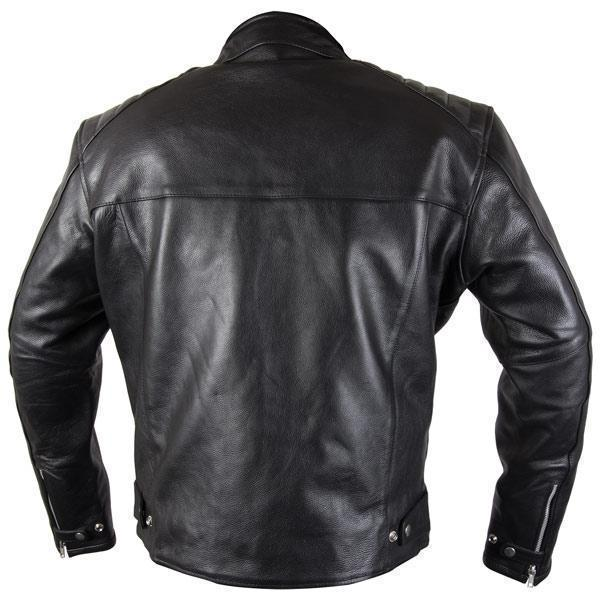 Xelement XS-630 'Recoil' Men's Black Leather Motorcycle Jacket