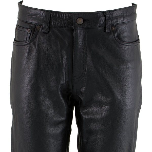 Xelement XS679 Ladies 'Nubile' Classic Black Buffalo Leather Pants
