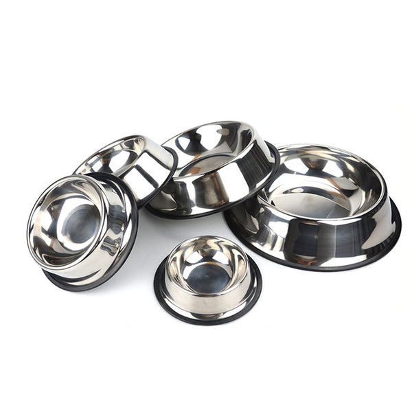 Stainless Steel Feeding Dishes (6 Sizes)