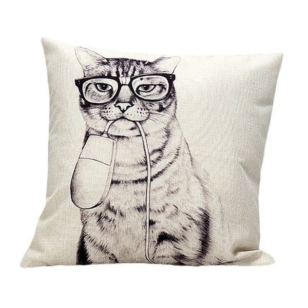 Cat and Mouse Parody Pillow Cover